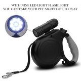Einziehbare Hundeleine mit der 9 LED-abnehmbaren Taschenlampe haltbar, dick u. den justierbaren 20 Fuss-Leinen