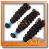 Trama do cabelo humano do Weave Curly brasileiro