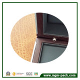 Rectángulo de reloj de madera del almacenaje mate de lujo