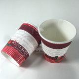 La Chine de gros de tasse de café de papier personnalisé du papier avec couvercle