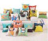 100%年の綿の美しい中心の印刷のソファーカバー