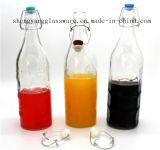 Heet verkoop De Fles van het Flessenglas van de Melk van de Fles van het Glas van het Vruchtesap Met het Verzegelen van Deksel