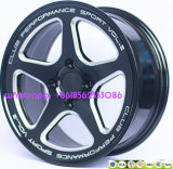 roda de trituração da liga 15inch-18inch de alumínio para a competência de carro