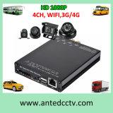CCTVのセキュリティシステムのための1080P 4チャネル3G WiFi車DVR