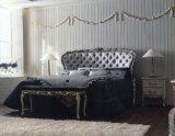 Bleu Orange classique lit en bois massif pour mobilier de chambre à coucher et le design intérieur