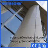 Panel de aluminio PVDF sólida de plástico para la pared de cortina
