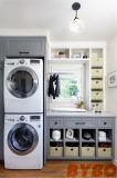 주문을 받아서 만들어진 높은 광택 있는 현대 백색 세탁물 내각 09