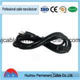 PVC изолировал шнура питания Pin кабеля 3 штепсельной вилки выдвижения штепсельной вилки UL электрического изготовления Китая американский