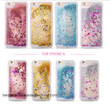 Acessório de telefone celular 3D Liquid Sand Crystal TPU Quicksand Case para iPhone 5 5s Se Cell Phone Cover Case