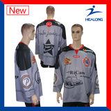 Healong中国の安い価格の服装ギヤ昇華クラブアイスホッケーのジャージ