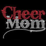 Cheer Mom MOM personnalisé Rhinestone Esprit d'équipe de l'École de transfert