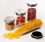 Опарник еды, стеклянный опарник, кухня может с крышкой, бутылкой хранения