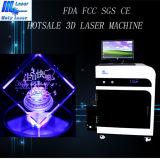 Holylaser ha utilizzato la macchina per incidere del laser 3D per i regali di vetro dell'incisione del cuore 3D