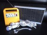 Sistema di illuminazione della casa di energia solare del litio con il caricatore mobile