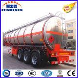 3 Eje Gasolina 45cbm aleación de aluminio Diesel Fuel Oil Tanker Gasolina Semi-remolque con un compartimiento