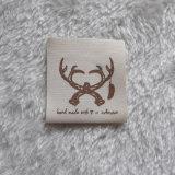 Plegada etiqueta impresa seda de impresión de algodón