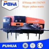 Punzonadora de la torreta mecánica del CNC con 16/24/32 prensa de sacador de las herramientas