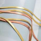 Colares Multilayer finas do Choker da serpente na cor do ouro/ouro de Rosa