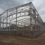 Almacén de la estructura de acero con el panel compuesto de aluminio