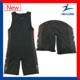 Sublimation-Sport-Abnützung-kundenspezifisches ringendes Unterhemd-Hemd