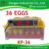 Hot Sale incubateur commercial entièrement automatique d'oeufs pour la vente pour la vente Cubator 36 ou à la vente de 36 (PK-36)