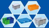 2311プラスティック容器かボックスを波形を付けるか、または記号論理学の箱を積んだ
