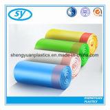 처분할 수 있는 다채로운 플라스틱 졸라매는 끈 쓰레기 봉지