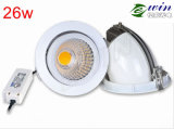 LED rotative Downlight à l'intense luminosité 130lm/W de 10W 15W 26W