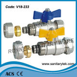 Латунный шариковый клапан для Pex-Al-Pex Pipe (V18-233)