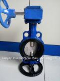 Metade duplo Haste da Válvula Borboleta Wafer Industrial com Engrenagem