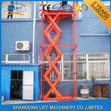 Ascenseur hydraulique extérieur de levage de cargaison de ciseaux pour l'entrepôt