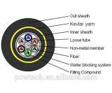 ADSS tutto cavo ottico esterno ottico dielettrico della fibra di singolo modo della portata del filato 200m di Aramid di sostegno di auto