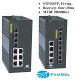 8つのポートIDS 508/IDS 508-4fが付いている管理された産業スイッチ