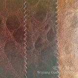 Polyester 100% décoratif de tissu de sofa bronzant le cuir estampé pour des meubles
