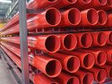 La conduttura d'acciaio combattente dello spruzzatore dell'incendio rosso Plained Grooved avvitata