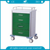 AG-GS003 CE & ISO Powder Coated Steel Medical Trolley