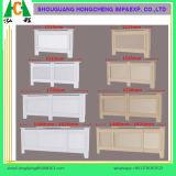 Couverture réglable de radiateur de peinture blanche de modèle moderne, couverture de chaufferette de radiateur de forces de défense principale