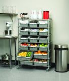 Metal Chrome Restaurante Kitchen Wire Storage Shelving Rack