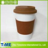 La porcelaine réutilisables de tasse de café à emporter avec manches (15032802)