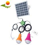 Lampada di soccorso solare del sistema di illuminazione della lampada solare portatile del LED