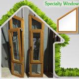 Doppia finestra del trapezio di vetro Tempered, finestra di alluminio di specialità per la villa dal fornitore in maniera fidata della Cina