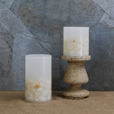 ホーム装飾Flameless LEDの柱の蝋燭は海のシェルを2詰める