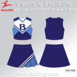 Dames colorées de sublimation de prix usine de Healong Cheerleading des robes