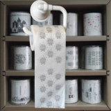 La toilette d'image essuie la toilette estampée par coutume &#160 ; Tissus de salle de bains drôles de papier