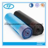 Sacs d'ordures en plastique de cordon de HDPE
