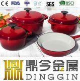 De Reeks van Cookware van de Keuken van de rode Kleur