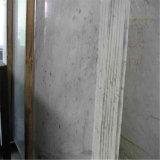 高品質のイタリアの固体表面の白い大理石の平板Biancoカラーラ