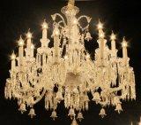 Европе королевский стиль классической полной медных Baccarat хрустальная люстра лампа