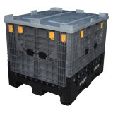 Caixa de paletes de plástico dobrável usada