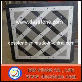 Medallón de mármol gris blanco negro del patrón del jet de agua (DES-MDL09)